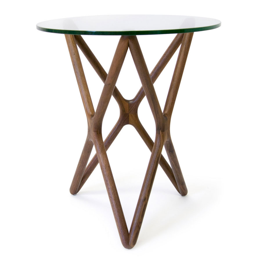sparta solid american walnut modern side table