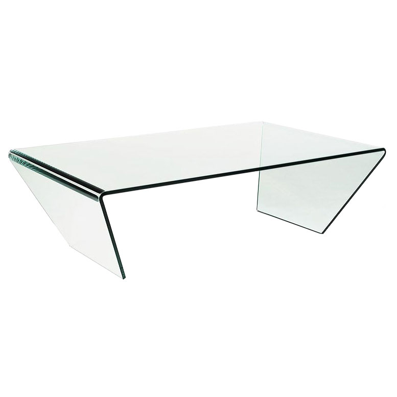 Spectrum Clear Bent Glass Coffee Table