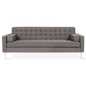 Gus* Modern Spencer Sofa in Bayview Osprey Fabric Upholstery with Stainless Steel Base