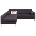 Spencer Contemporary Loft Bi-Sectional in Urban Tweed Ink by Gus* Modern