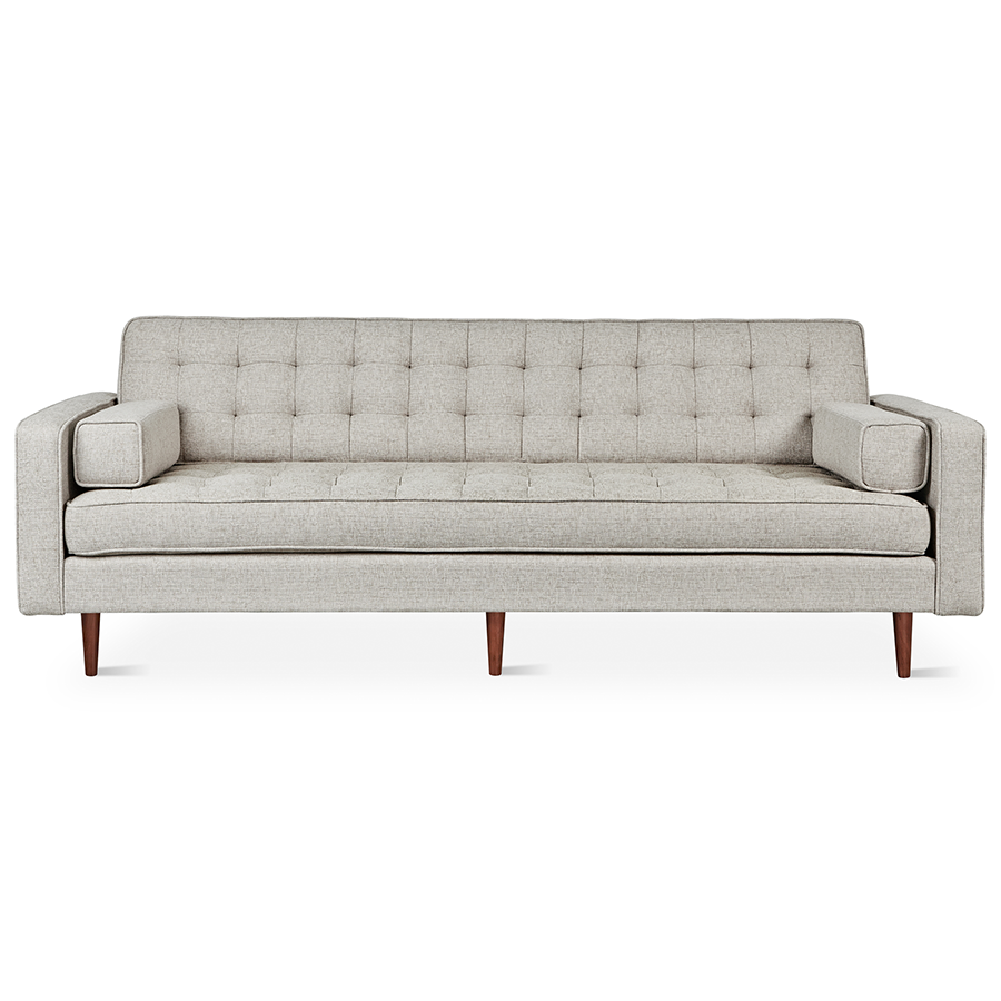 Sofa Free Delivery: Gus Modern Spencer Sofa In Leaside Driftwood + Walnut
