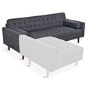 Gus* Spencer Walnut Contemporary Tufted Sofa in Urban Tweed Ink Upholstery