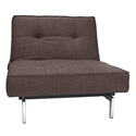 Splitback Lounge Chair in Begum Dark Brown Fabric