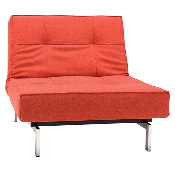 Splitback Lounge Chair in Burned Orange Fabric by Innovation