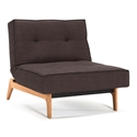 Splitback Eik Modern Chair in Dark Brown Begum