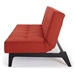Splitback Eik Sleeper - Orange + Black Base by Innovation - Side View