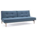 Splitback Modern Sleeper - Light Blue + Light Wood Legs