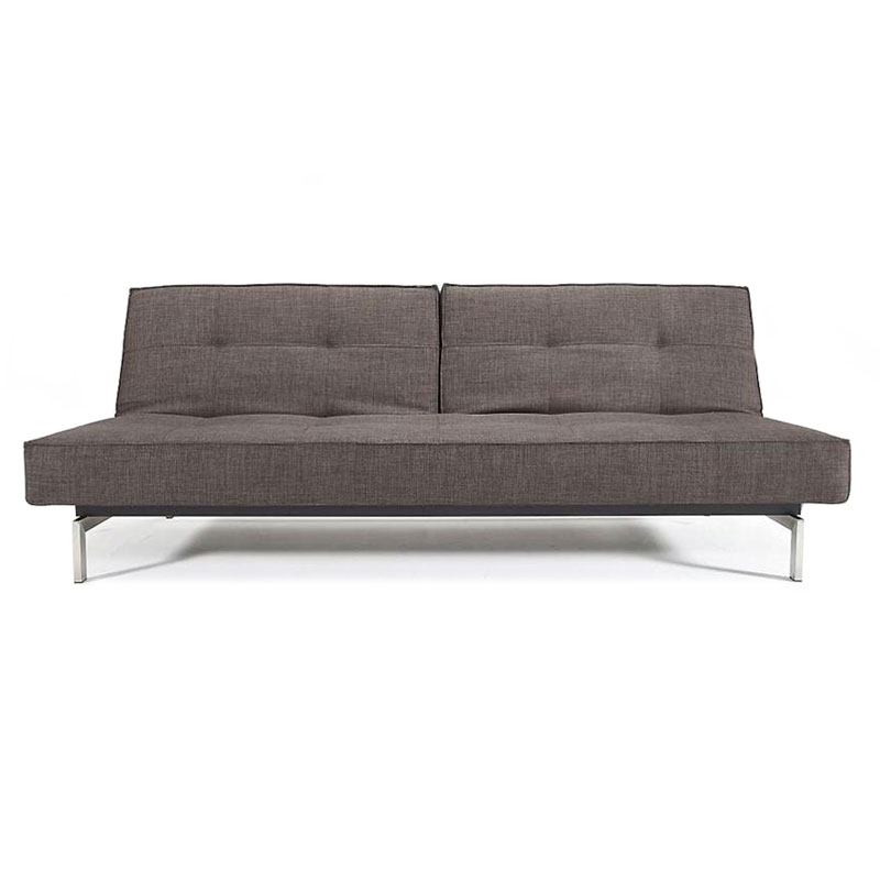 Splitback Modern Sofa Sleeper in Begum Dark Brown