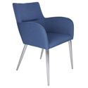 Spruce Blue Modern Dining Arm Chair