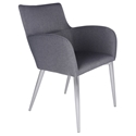 Spruce Gray Modern Dining Arm Chair