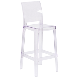 Squire Modern Clear Polycarbonate Barstool