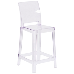 Squire Modern Clear Polycarbonate Counter Stool