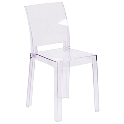 Squire Modern Clear Polycarbonate Dining Chair