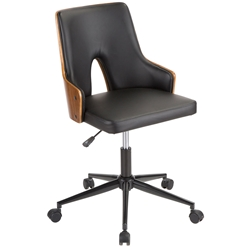 Stacia Modern Black + Walnut Office Chair