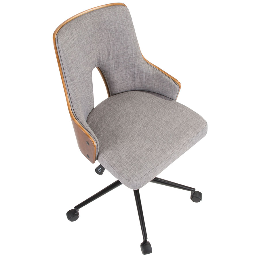 Stacia Modern Gray Office Chair | Eurway Furniture