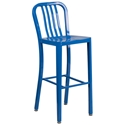 Stamford Blue Modern Metal Bar Stool