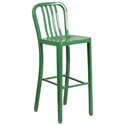 Stamford Green Modern Metal Bar Stool