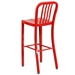 Stamford Metal Red Modern Bar Stool