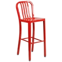 Stamford Red Modern Metal Bar Stool