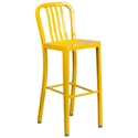 Stamford Yellow Modern Metal Bar Stool