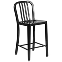 Stamford Black Modern Metal Counter Stool