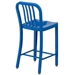 Stamford Blue Modern Metal Counter Stool - Back View