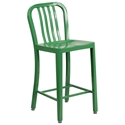 Stamford Green Modern Metal Counter Stool