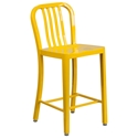 Stamford Yellow Modern Metal Counter Stool