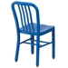 Stamford Modern Indoor Outdoor Chair in Blue - Back View