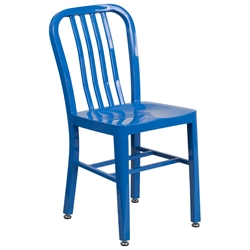 Stamford Modern Indoor Outdoor Chair in Blue