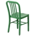 Stamford Modern Indoor Outdoor Chair in Green - Back View