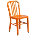 Stamford Modern Indoor Outdoor Chair in Orange