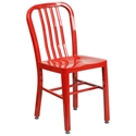 Stamford Modern Indoor Outdoor Chair in Red