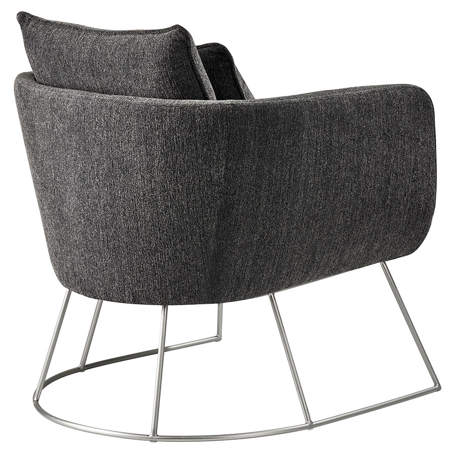 modern lounge chairs  stanford charcoal chair  eurway -  stanford modern charcoal lounge chair  back view