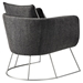 Stanford Modern Charcoal Lounge Chair - Back View