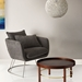 Stanford Contemporary Charcoal Lounge Chair