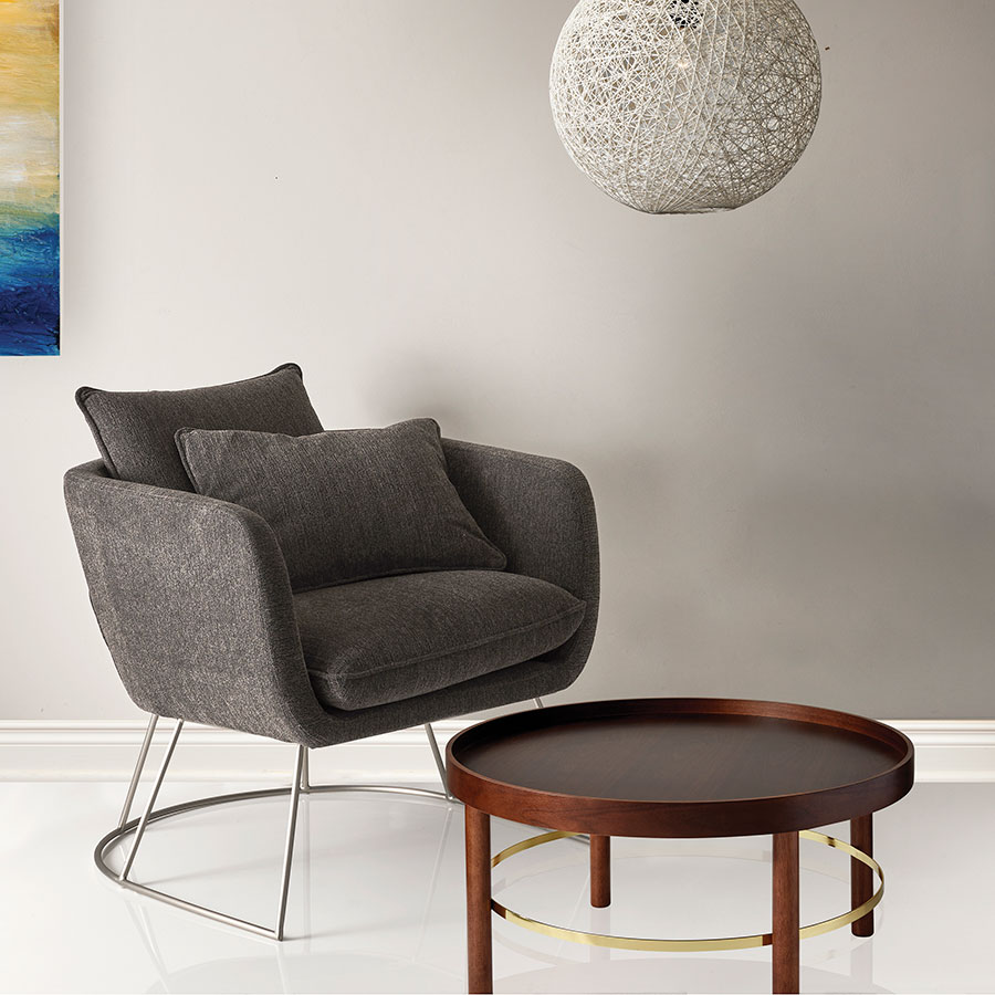 Perfect ... Stanford Contemporary Charcoal Lounge Chair