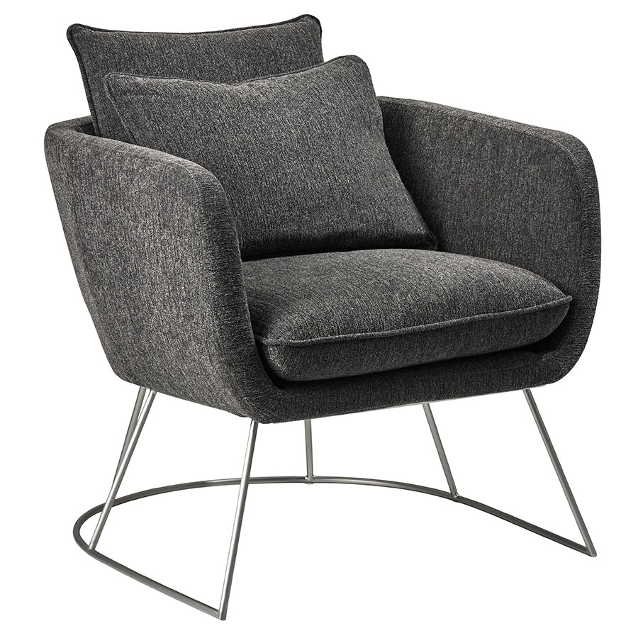 Stanford Modern Lounge Chair in Charcoal