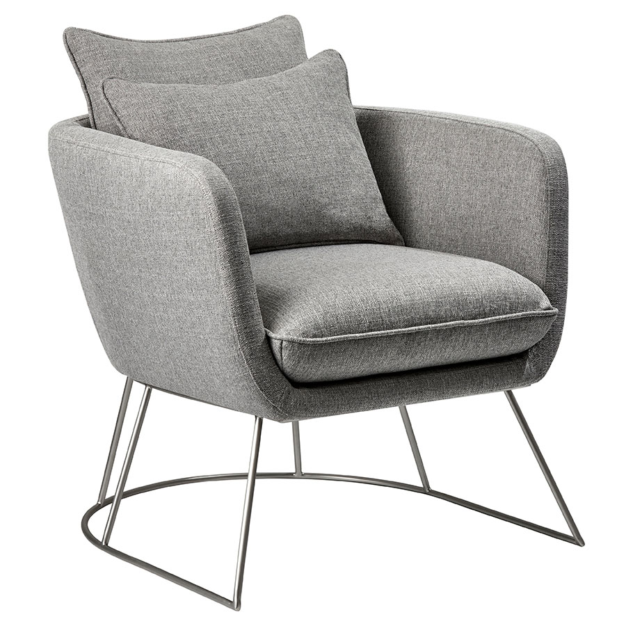 Stanford Modern Lounge Chair in Light Gray