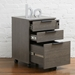 Stavanger Dark Grey Contemporary Mobile File Cabinet by Unique Furniture