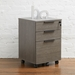 Stavanger Dark Grey Contemporary Mobile File Cabinet