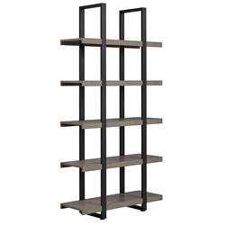 Stavanger Modern Dark Grey Tall Bookcase