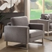 Stefan Modern Gray Fabric Chair