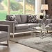 Stefan Modern Gray Fabric Loveseat