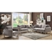 Stefan Modern Gray Fabric Seating Collection