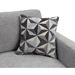 Stefan Modern Gray Loveseat - Accent Pillows