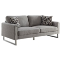 Stefan Modern Gray + Stainless Steel Sofa