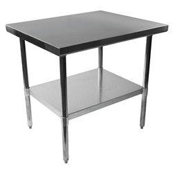 "Stelios 36"" Steel Modern Professional Grade Counter Height Prep Table"