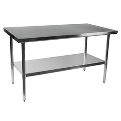 "Stelios 60"" Steel Modern Counter Height Kitchen Prep Table"
