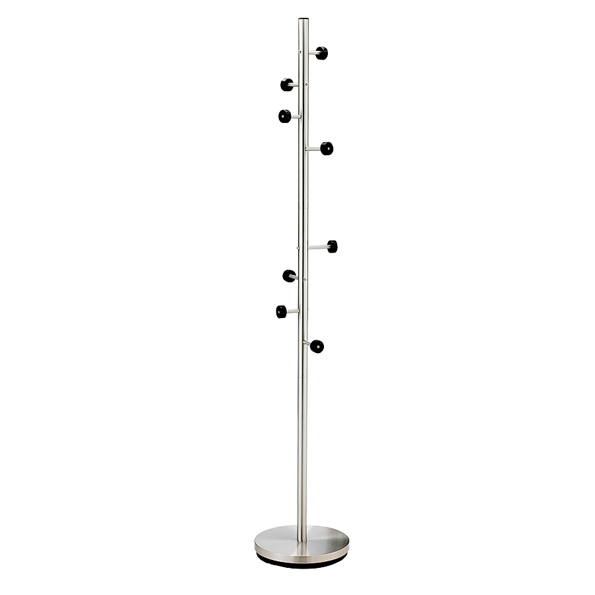 Stella Modern Brushed Metal Coat Rack